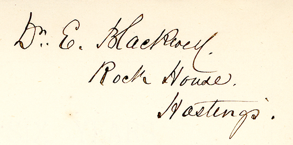 Elizabeth Blackwell's Signature